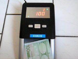 avis détecteur de faux billets automatique euroline